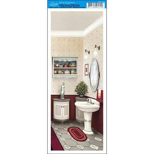 Papel para Arte Francesa Litoarte 10 X 25 Cm - Modelo Afp-059 Banheiro Vii