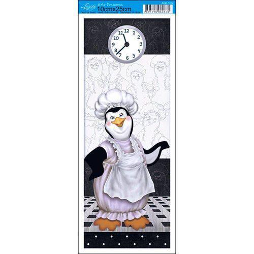 Papel para Arte Francesa Litoarte 10 X 25 Cm - Modelo Afp-099 Pinguin Cozinheiro