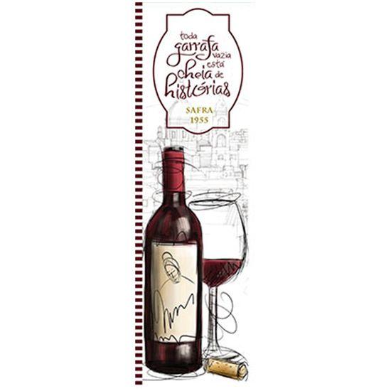 Papel para Arte Francesa Litoarte 10x32,8 AFVP-010 Garrafa de Vinho e Taça