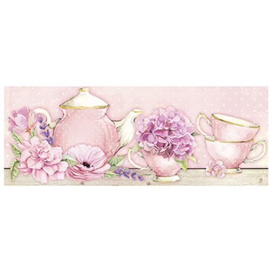 Papel para Arte Francesa Litoarte 25x10 AFP-160 Chá e Flores