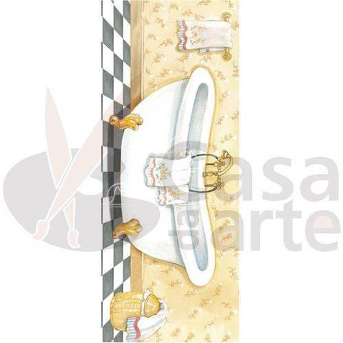 Papel para Arte Francesa Pequena Litocart 10 X 25 Cm - Modelo Lfp-44 Banheira