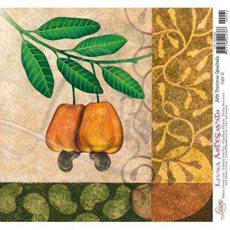 Papel para Arte Francesa Quadrada 21 X 21cm Afq004 - Cajú