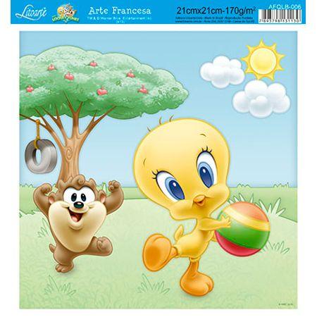 Papel para Arte Francesa Quadrado Looney Tunes Baby 21 X 21cm Afqlb - 006