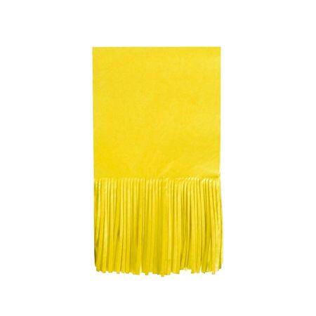 Papel para Balas com Franja Amarelo - 48 Unidades