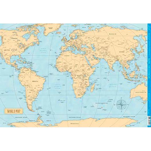 Papel para Decoupage PD 990 Mapa Mundi