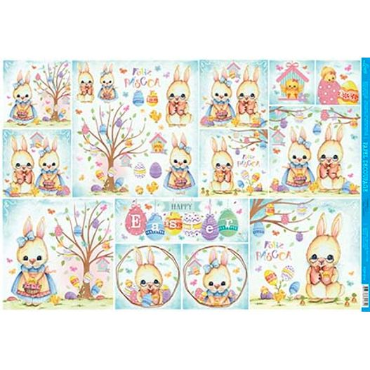Papel para Decoupage PDP 014 Happy Easter