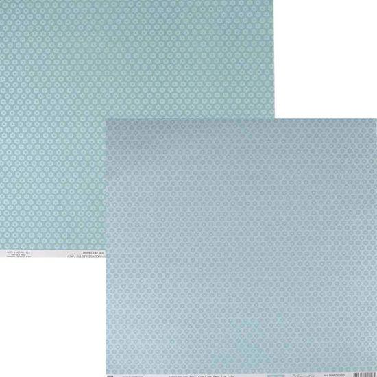 Papel para Scrapbook Básico Azul Bebê Flozinha KFSB337 - Toke e Crie By Ivana Madi