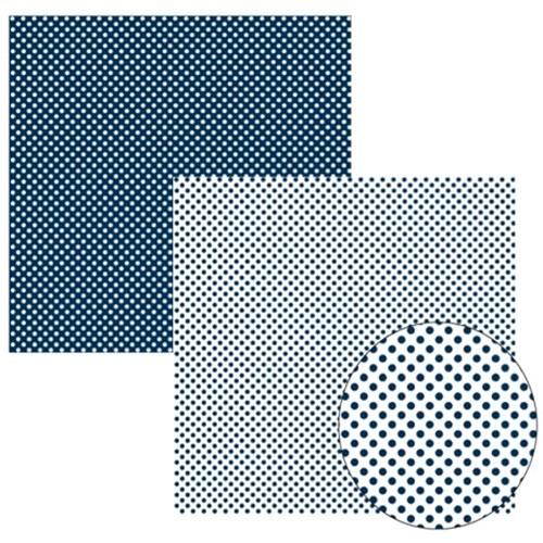 Papel Scrap Azul Marinho Fb Poa Grande KFSB137 - Toke e Crie By Ivana Madi
