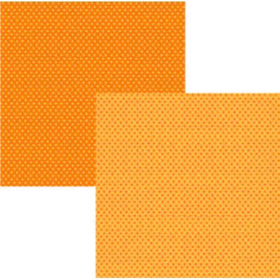 Papel Scrap Basico Laranja Poa KFSB74 -Toke e Crie By Ivana Madi
