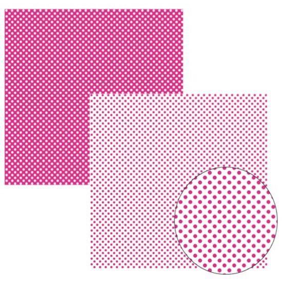 Papel Scrap Basico Pink Fb Poa Grande KFSB139 - Toke e Crie By Ivana Madi