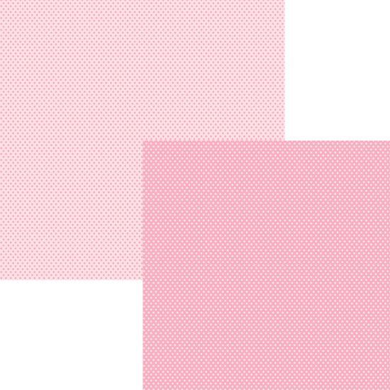 Papel Scrap Basico Rosa Bebe Poa KFSB20 - Toke e Crie By Ivana Madi