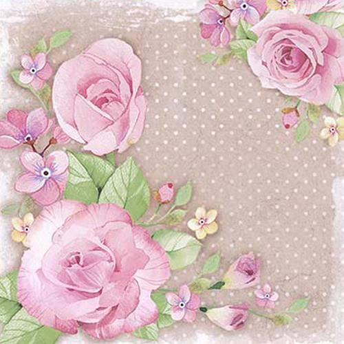 Papel Scrap Decor Folha Simples 20x20 Rosas Sdsxx-039 - Litoarte
