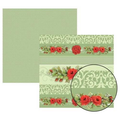 Papel Scrap Df Rosa Vermelha Barrinhas Sdf226 Toke e Crie By Mamiko