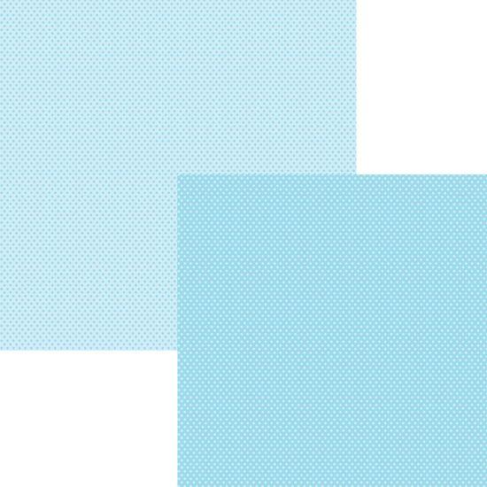 Papel Scrapbook Basico Azul Bebe Poa KFSB08 - Toke e Crie By Ivana Madi