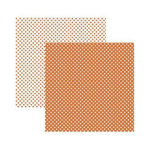 Papel Scrapbook Básico KFSB454 Poá Pequeno Laranja