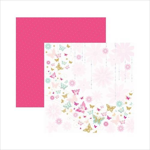 Papel Scrapbook Borboletas Encantadas Sdf383 Toke e Crie