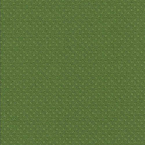 Papel Scrapbook Cardstock PCAR491 Bolinhas II Verde Capim