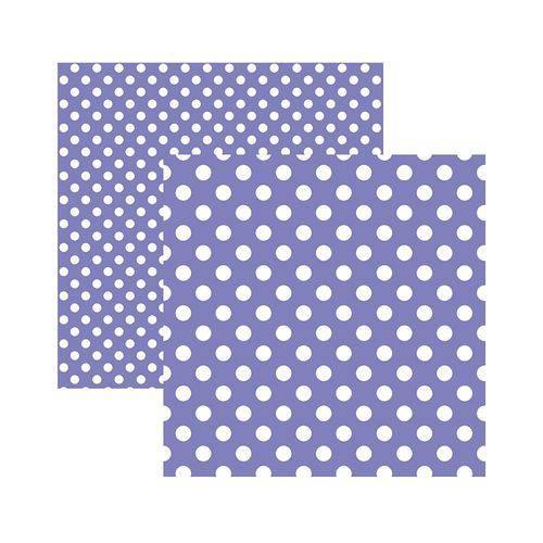 Papel Scrapbook Cardstock PCAR505 Bolinhas II Roxo