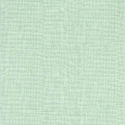 Papel Scrapbook Cardstock Perolado II Verde Pastel PCAR436 - Toke e Crie