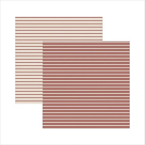 Papel Scrapbook Classico Texturizado Marrom Listras KSBC008 - Toke e Crie By Ivana Madi