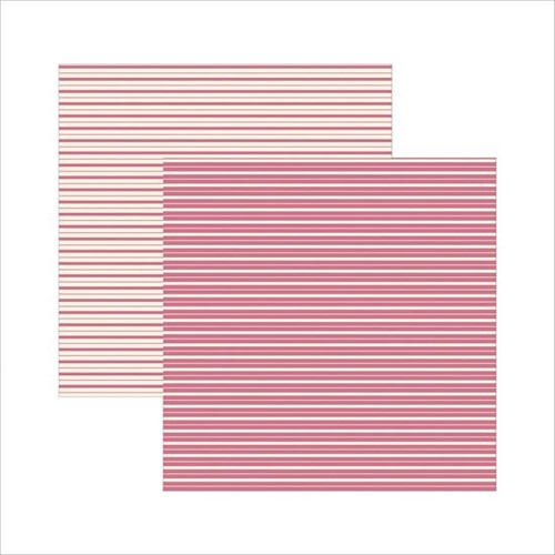 Papel Scrapbook Classico Texturizado Pink Listras KSBC006 - Toke e Crie By Ivana Madi