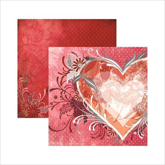 Papel Scrapbook Cupido Coração SDF405 - Toke e Crie