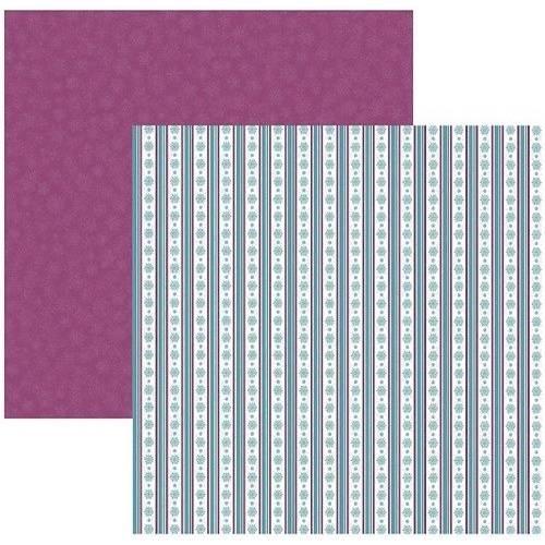 Papel Scrapbook DF Coleções Diversão no Gelo Listras SDF533 - Toke e Crie By Ivana Madi