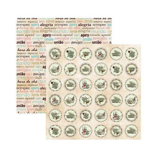 Papel Scrapbook DF - SDF665 - Coleções Hora do Chá Selos