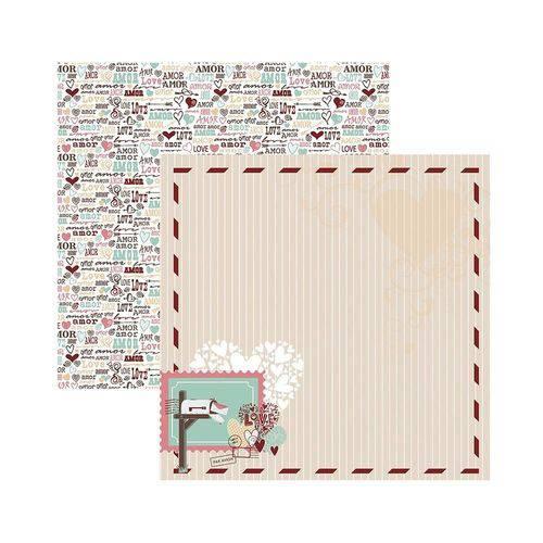 Papel Scrapbook DF SDF698 o Amor Está no Ar Moldura