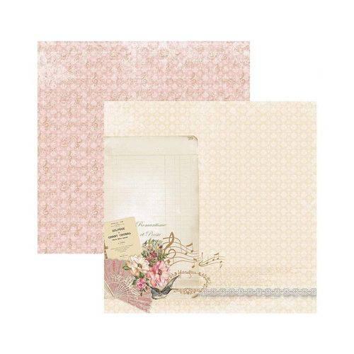 Papel Scrapbook DF - SDF766 - Floral Clássico Poesia