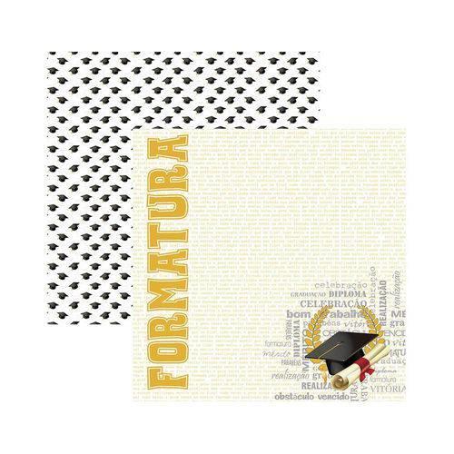 Papel Scrapbook DF - SDF774 - Formatura Capelo - Toke e Crie