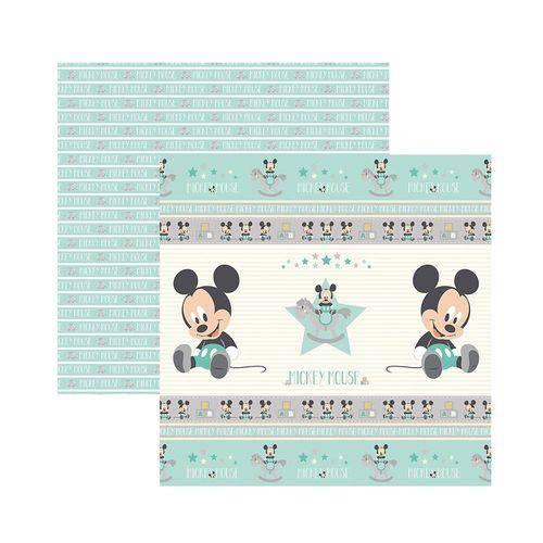 Papel Scrapbook DF - SDFD033 - Baby Mickey 1 Fitas e Rótulos