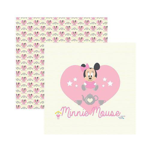 Papel Scrapbook DF SDFD021 Baby Minnie 1 Guirlanda