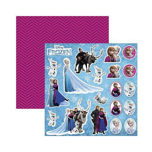 Papel Scrapbook DF - SDFD100 - Frozen 2 Recortes