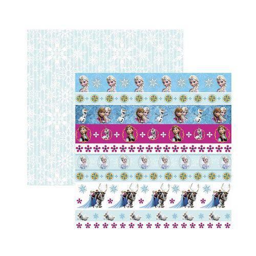 Papel Scrapbook DF - SDFD101 - Frozen 2 Faixas - Toke e Crie