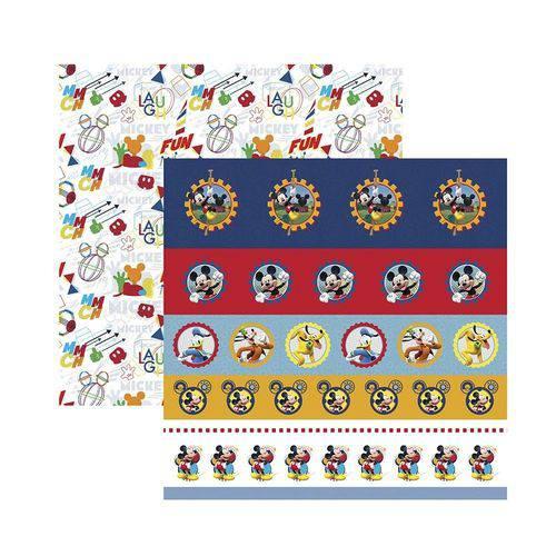 Papel Scrapbook DF SDFD121 a Casa do Mickey 1 Selos e Tags