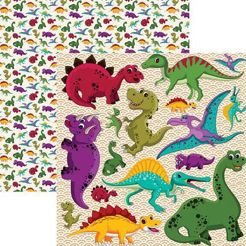 Papel Scrapbook Dinossauros Recortes Sdf694 - Toke e Crie By Flavia Terzi