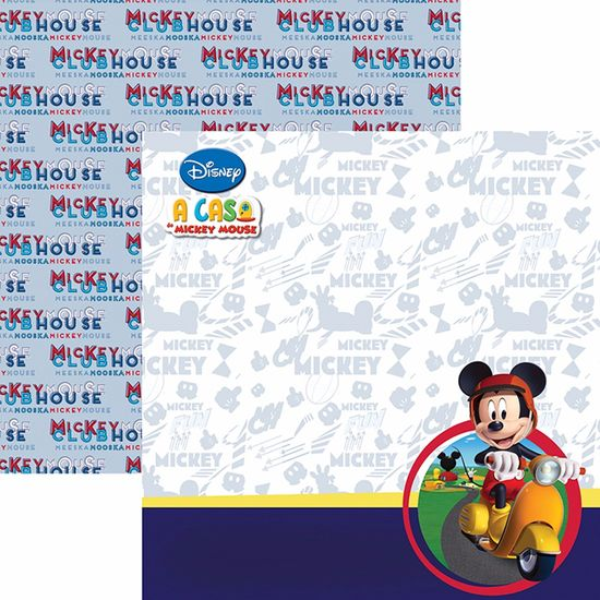 Papel Scrapbook Dupla Face 30,5x30,5cm a Casa do Mickey 2 Paisagem SDFD-103 - Toke e Crie