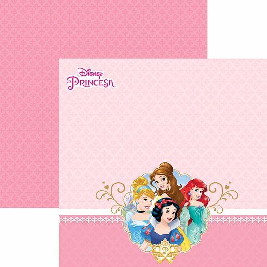 Papel Scrapbook Dupla Face 30,5x30,5cm Princesas 2 Paisagem SDFD-053 - Toke e Crie