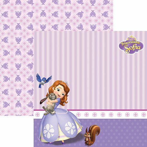 Papel Scrapbook Dupla Face 30,5x30,5cm Princesinha Sofia 2 Paisagem Sdfd-095 - Toke e Crie