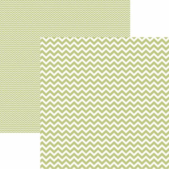 Papel Scrapbook Dupla Face Básico 30,5x30,5cm Chevron Verde Claro Kfsb422 - Toke e Crie By Mariceli