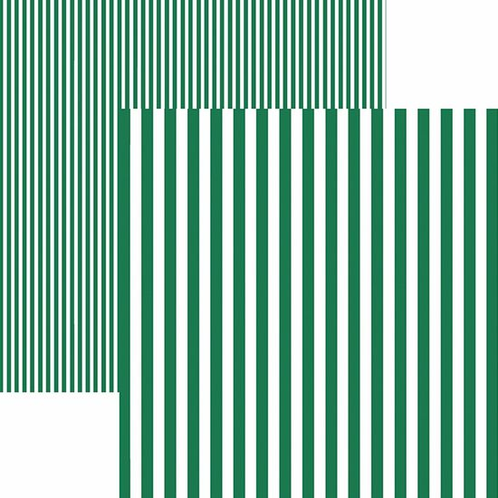 Papel Scrapbook Dupla Face Básico 30,5x30,5cm Listras Verde KFSB430 - Toke e Crie By Mariceli