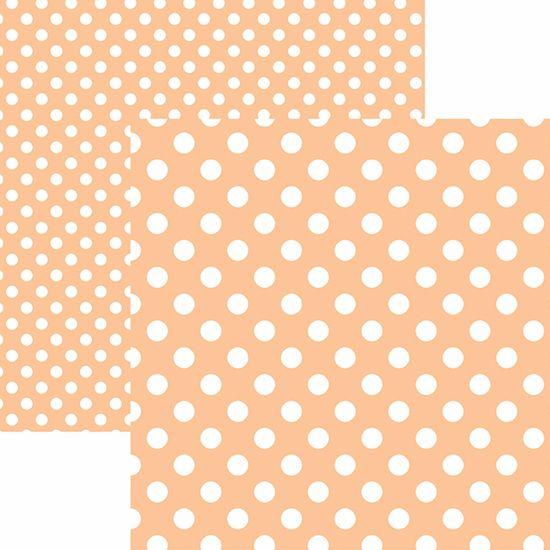 Papel Scrapbook Dupla Face Básico 30,5x30,5cm Poá Grande Coral KFSB483 - Toke e Crie By Mariceli