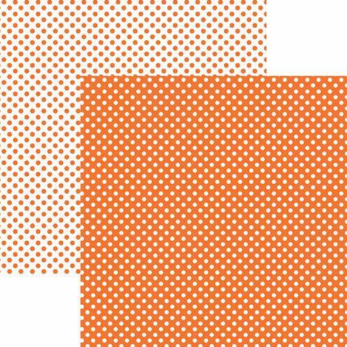 Papel Scrapbook Dupla Face Básico 30,5x30,5cm Poá Pequeno Laranja Kfsb454 - Toke e Crie By Mariceli