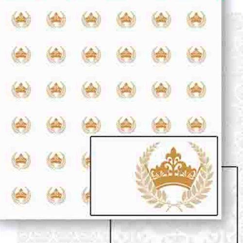 Papel Scrapbook Dupla Face Coroas e Ramos Dourado Sd-454 - Litoarte