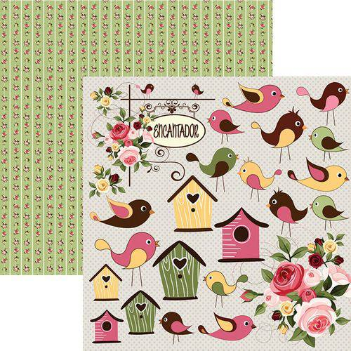 Papel Scrapbook Dupla Face Encantamento Recortes Sdf668 - Toke e Crie By Flavia Terzi