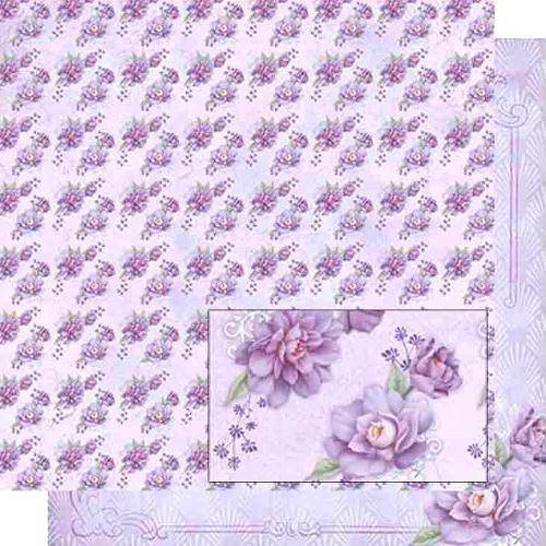 Papel Scrapbook Dupla Face Flores Lilás Sd-467 - Litoarte