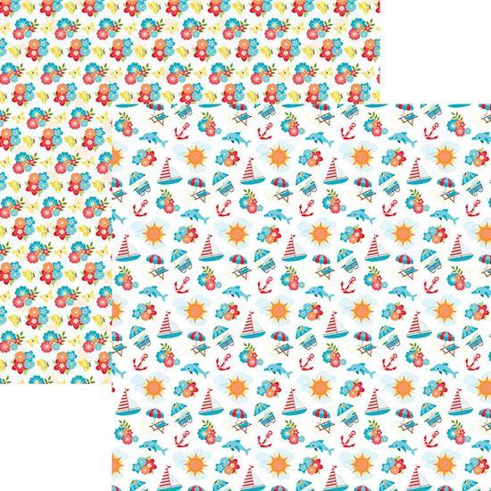 Papel Scrapbook Dupla Face Mini Básico 30,5x30,5cm Verão Divertido SMB-018 – Toke e Crie By Ivana Madi