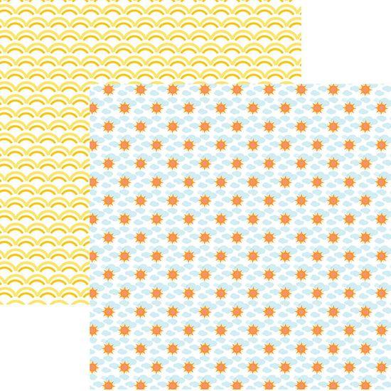 Papel Scrapbook Dupla Face Mini Básico 30,5x30,5cm Verão Ensolarado SMB-017 – Toke e Crie By Ivana Madi