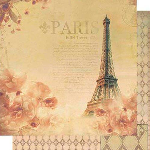 Papel Scrapbook Dupla Face Paris Sd-508 - Litoarte
